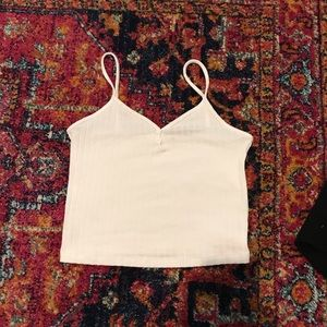 White Crop tank top